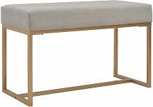 Banquette pouf tabouret meuble banc 80 cm gris
