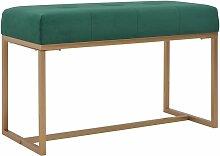 Banquette pouf tabouret meuble banc 80 cm vert