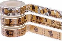 Baoblaze 3 Rouleaux de Washi Tape Autocollant de