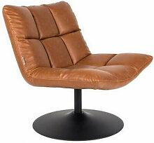 BAR - Fauteuil design pivotant en aspect cuir