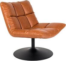 Bar - Fauteuil façon cuir pivotant lounge