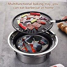 Barbecue à charbon de bois coréen, antiadhésif,