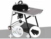 Barbecue à charbon de bois sur chariot ranger -