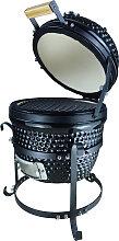 Barbecue à charbon design olive acier céramique