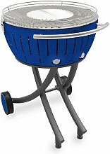 barbecue à charbon portable 60cm bleu - lg-tb-600