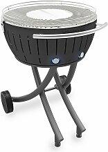barbecue à charbon portable 60cm gris - lg-an-600
