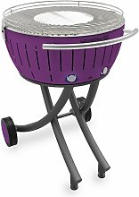 barbecue à charbon portable 60cm lilas -