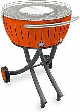 barbecue à charbon portable 60cm orange -