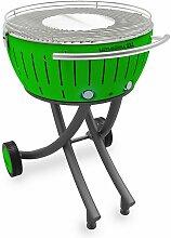 barbecue à charbon portable 60cm vert - lg-gr-600