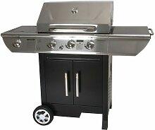 Barbecue à gaz 3 brûleurs + réchaud latéral