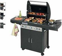 Barbecue à gaz LS DARK 3 grill et plancha 3