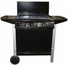 Barbecue à gaz mixte Grill + Plancha 3 brûleurs