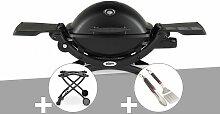 Barbecue à gaz Weber Q 1200 noir + Chariot + Kit