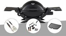 Barbecue à gaz Weber Q 1200 noir + Kit ustensiles