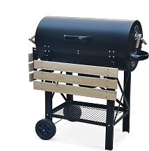 Barbecue charbon de bois serge noir fumoir smoker