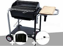 Barbecue charbon Roma + Housse + Tournebroche