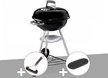 Barbecue Compact Kettle 47 cm + Brosse + Plancha -