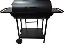 Barbecue double foyer au charbon de bois 69,5 x 37