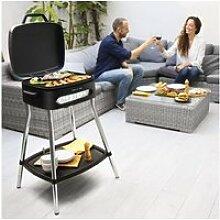 Barbecue électrique avec thermostat 2000w gris