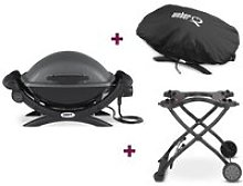 Barbecue électrique Q 1400 + Housse + Chariot -