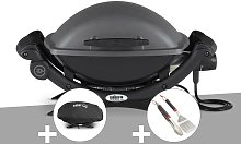 Barbecue électrique Q 1400 - Weber + Housse + Kit