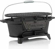 Barbecue en fonte avec grille de cuisson - 50 x 25