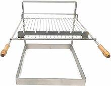 QEM Grille Barbecue 62x41 avec poign/ée
