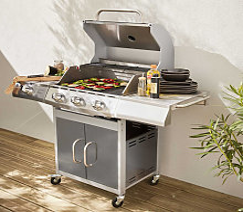 Barbecue gaz inox 14kW - Richelieu Inox - Barbecue