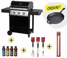 Barbecue gaz ROSTER 3 brûleurs plancha intégrale