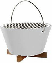 Barbecue portable à charbon / Ø 30 x H 20 cm -