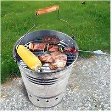 Barbecue portable seau petit modèle