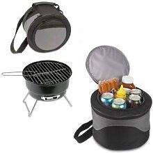 Barbecue rond Portable antiadhésif, Surface