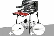 Barbecue vertical Raymond + Kit tournebroche +