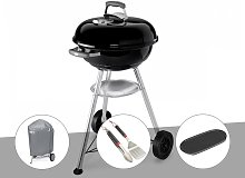 Barbecue Weber Compact Kettle 47 cm + Housse + Kit
