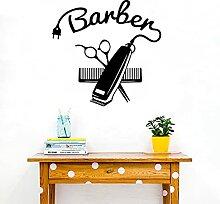 Barber Logo Salon Shop Barber Ciseaux Verre