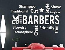 Barbershop Vinyle Stickers Muraux Coiffeurs