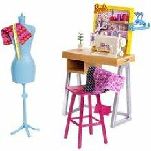Barbie - coffret atelier de mode avec accessoires