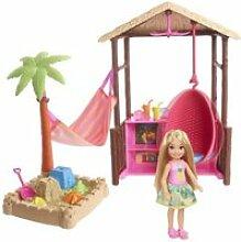 Barbie - coffret chelsea cabanon de plage -