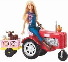 Barbie fermiere et tracteur