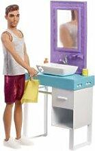 Barbie - ken & salle de bain - coffret mobilier de