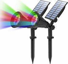 Bares - LED Solaire Projecteur, 2 en 1 Lampe