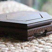 Base pour théière en bois.