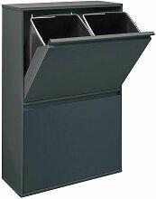 Basic CR604-B Poubelle de recyclage en acier,
