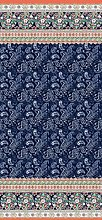 Bassetti Couvre-lit en Coton Bleu 265 x 255 cm