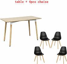 Bathrins - ensenble 1 table + 4PCS chaise a manger