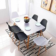 BATHRINS®Set Table à manger Blanc + 2 Chaises