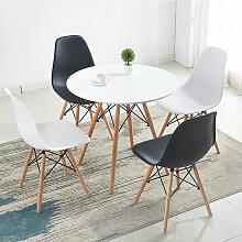 BATHRINS®Set Table à manger Blanc +4 Chaises