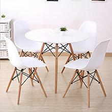 BATHRINS®Set Table à manger+Pack de 4 Chaises
