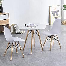 Bathrins - Set Table à manger+Pack de 4 Chaises