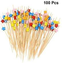 Bâtonnets en bambou jetables de 12cm, 100